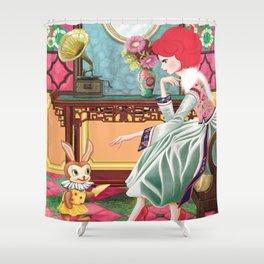 Liselle's Bunny Lover Shower Curtain
