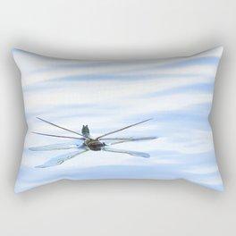 Dragonfly Reflection Lake Surface Rectangular Pillow