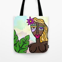 african Tote Bags featuring African beauty by Andrea Silvestri