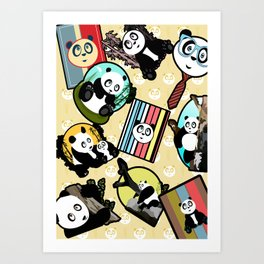 Panda Mix Art Print