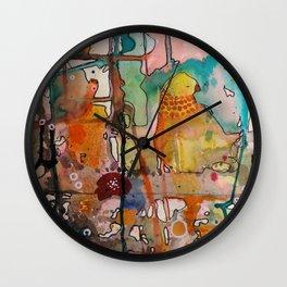 plaisirs spontanés Wall Clock