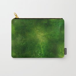 Green Crystal Marble Painting Carry-All Pouch