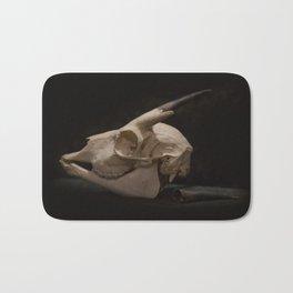 White Tail Deer Skull Bath Mat