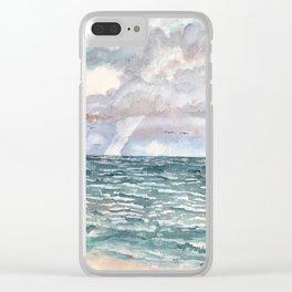Beach seascape Clear iPhone Case