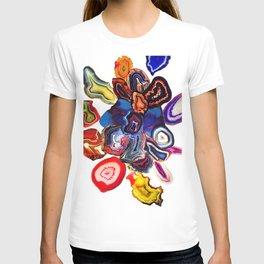 Semi-Precious Agate Burst, Earth's Core Flowers T-shirt