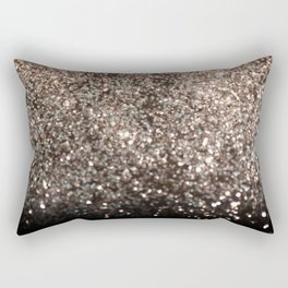 Sparkling GOLD BLACK Lady Glitter #1 #decor #art #society6 Rectangular Pillow
