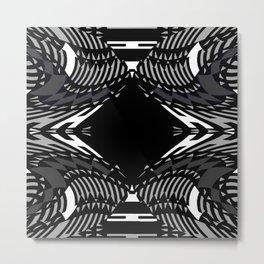 Geo Illusions on Black,White,Gray Metal Print