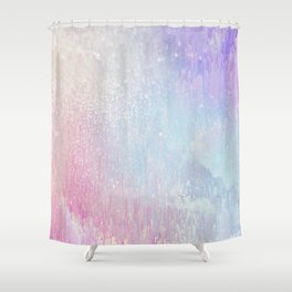 Holo Glitches Shower Curtain