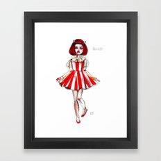 Turpentine doll Framed Art Print