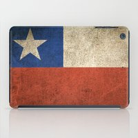 chile iPad Cases featuring Old and Worn Distressed Vintage Flag of Chile by Jeff Bartels