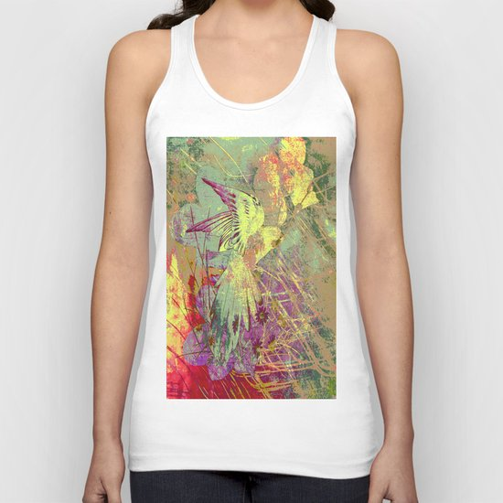 Parrot. On Front Page. Unisex Tank Top