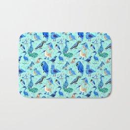 Blue Birds Bath Mat