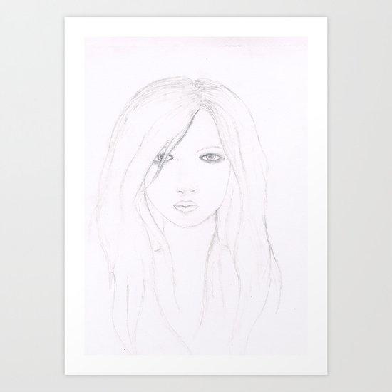 A Girl. Art Print