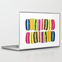 macaroons Laptop & iPad Skins featuring Macaroons by Pea Press