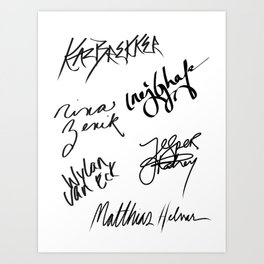 Six of Crows | The Crows Signatures Art Print