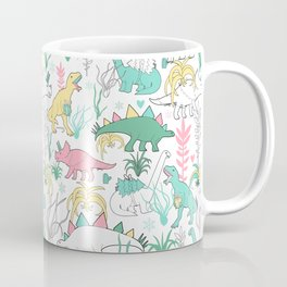 Christmas dinosaurs. Coffee Mug