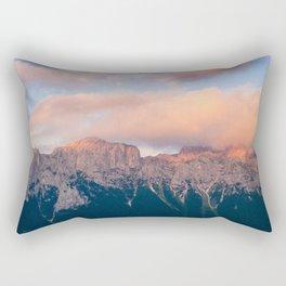 Pink Sunset over Mount Amazing Rectangular Pillow