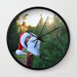 Santa Claus Is Coming To Town Wall Clock