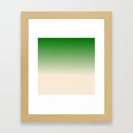 Antique White and Christmas Green Gradient Colors Framed Art Print