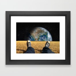 World view Framed Art Print