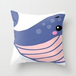 Cartoon Cute Whale Throw Pillow