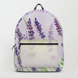 Lavender Flowers Watercolor Backpack