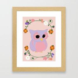 Owl Watch Over You Framed Art Print