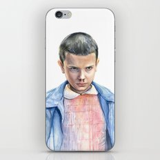 Eleven Stranger Things Watercolor Portrait iPhone & iPod Skin