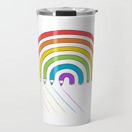 Pencil Rainbow Travel Mug