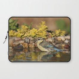 young bird bathes Laptop Sleeve