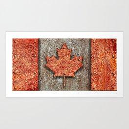 Rusty Maple Leaf. Art Print