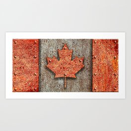 Rusty Maple Leaf. Art Print