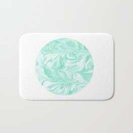 Ryota - spilled ink abstract marble circle trendy must have gift for dorm college student life paint Bath Mat