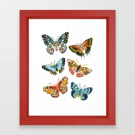 Woodland Butterfly Print Framed Art Print
