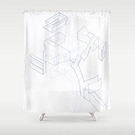 Exploded Axonometric Shower Curtain