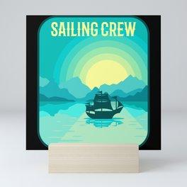 SAILING CREW SAILING CREW Gift Sailor Sailing Team Mini Art Print