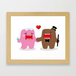 A Very Domo Wedding Framed Art Print