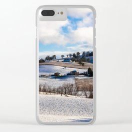 First winter snow in Oberon. NSW. Australia. Clear iPhone Case