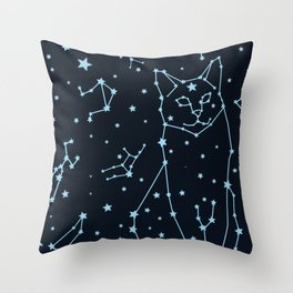 Starcat Throw Pillow