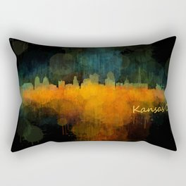 Kansas City Skyline UHq v4 Rectangular Pillow