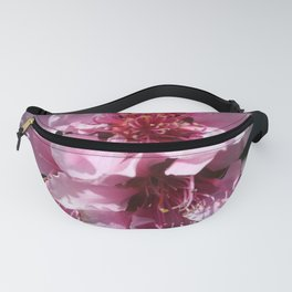 Peach Tree Blossom With Garden Background Fanny Pack