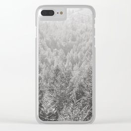 Mt Tamalpais in Shades of Gray Clear iPhone Case