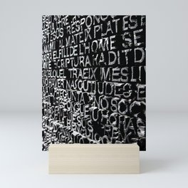 Written in Stone Mini Art Print