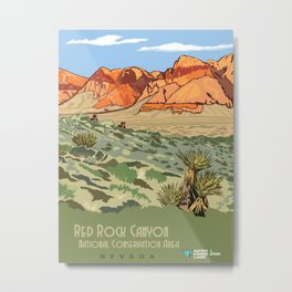 Vintage Poster - Red Rock Canyon National Conservation Area, Nevada (2015) Metal Print