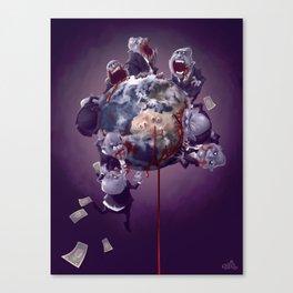 Les Mange-mondes Canvas Print