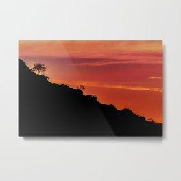 Countryside Sunset Landscape Scene, Lavalleja Department, Uruguay Metal Print