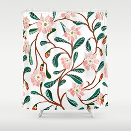 Floral Deco Shower Curtain