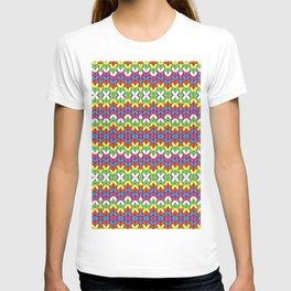 Embroidery Crochet Rainbow T-shirt