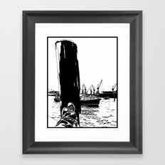 hamburg fischmarkt Framed Art Print