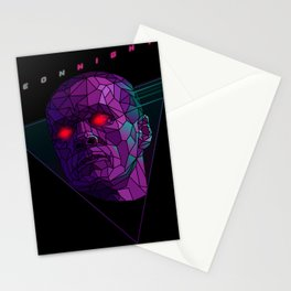 Neonnight 80s cyborg Stationery Cards